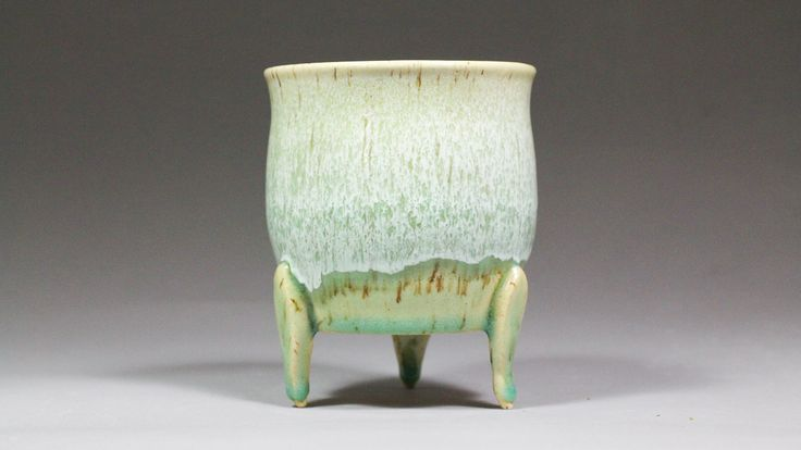 """4.25"""" Mini Orchid Pot with Feet by Ashley Keller"""