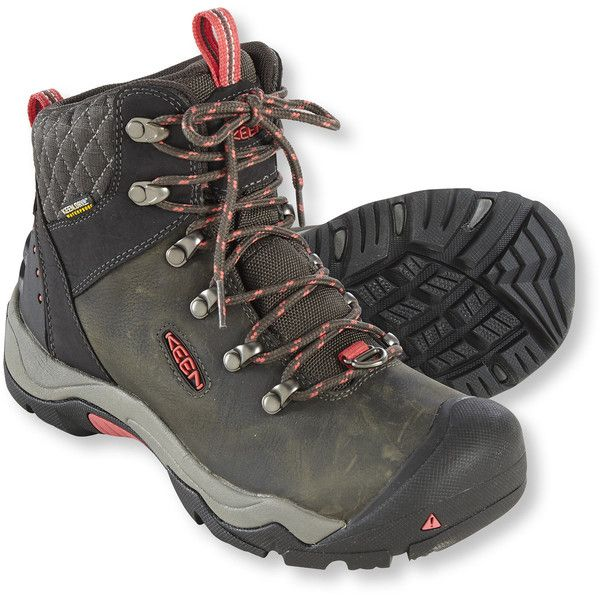 Keen Women's Revel Iii Waterproof Hiking Boots ($160) ❤ liked on Polyvore featuring shoes, water proof hiking boots, hiking boots, keen footwear, waterproof footwear and patent shoes