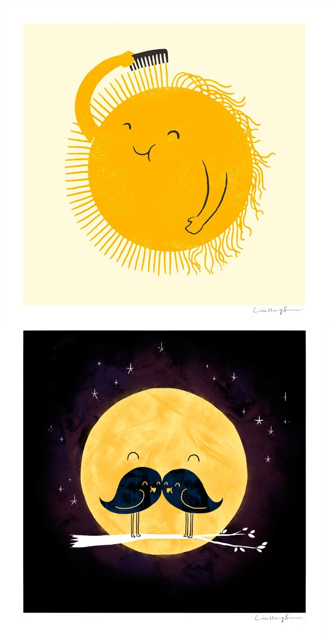 Bad Hair Day / Moonstache by Lim Heng Swee of ILOVEDOODLE