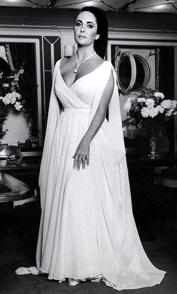 On her yacht prior to setting sail for Princess Grace's Scorpions Ball 1969