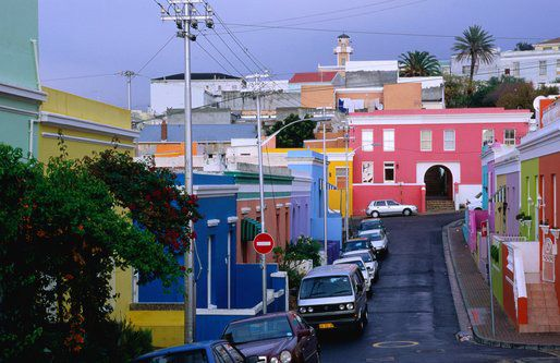 Bo Kaap  http://www.ihcapetown.com/index.php/en/features-3/sample-content/photos/cape-town