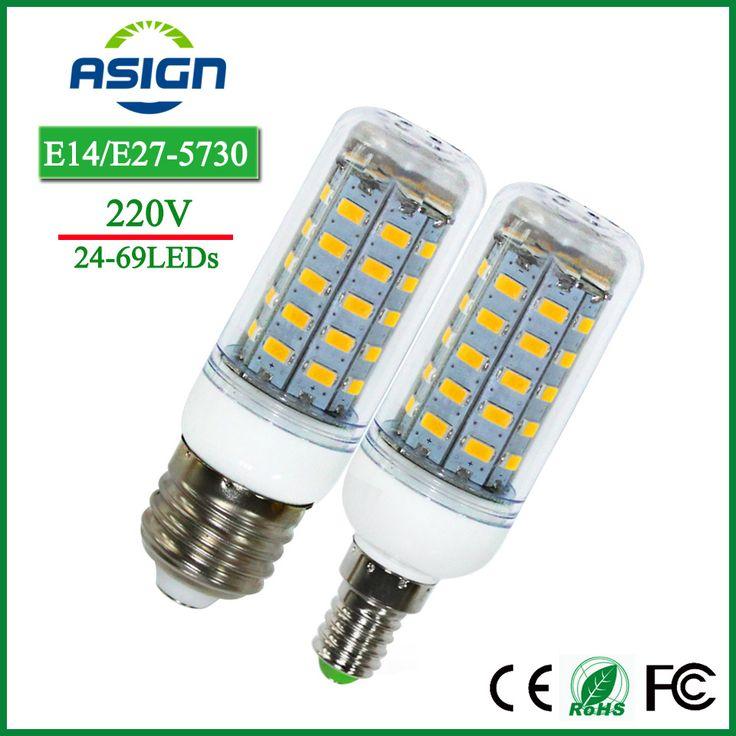 E27 Bombillas de Maíz Luces Led SMD5730 220 V 24 36 48 56 69 Lámparas LED de La Vela led E14 Bombilla Del Maíz Del Led Proyector de Iluminación de Interior