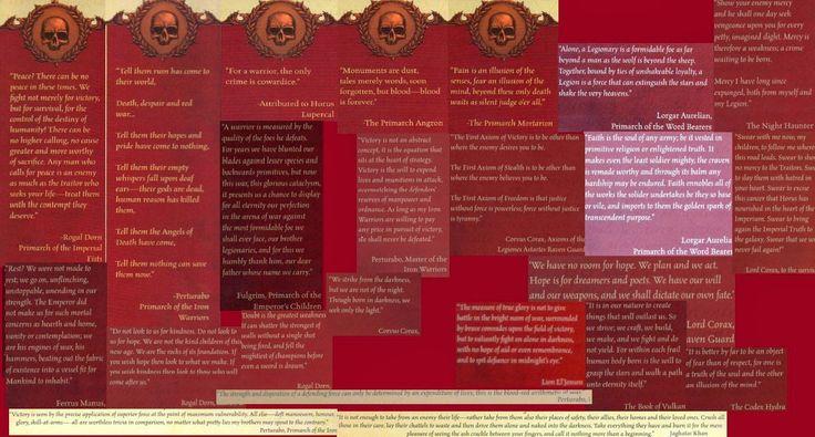 El Descanso del Escriba: Collage de citas de los Primarcas