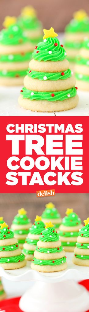 Christmas Tree Cookie Stacks For Cookies Lover