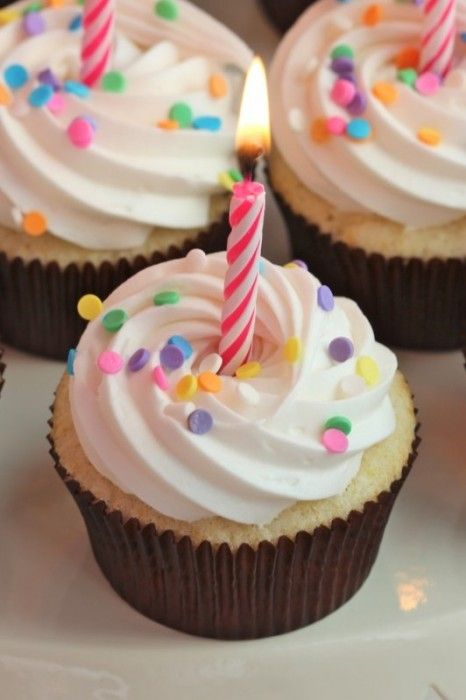 The Perfect Birthday Cupcake :: Cupcake Monday. Perhaps I will have this for my birthday-TODAY!