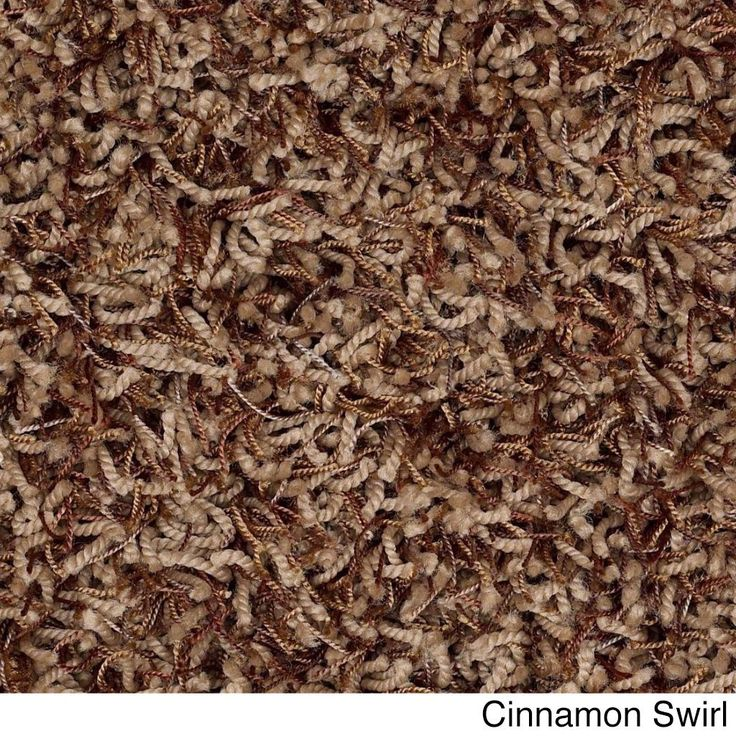 Shaw Bling Collection Nylon/Polyester Super-shag Oversized Area Rug (12' x 15') (Z6809-755 Cinnamon Swirl), Beige, Size 12' x 15'