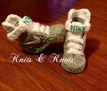 Shop for nike baby crochet shoes on Etsy, the place to express your  creativity through the buying and selling of handmade and vintage goods.