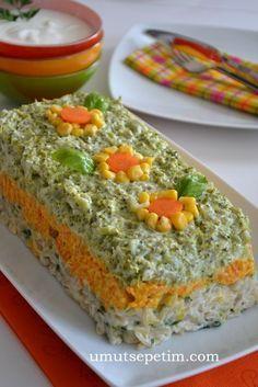 Rengarenk brokoli salatasi