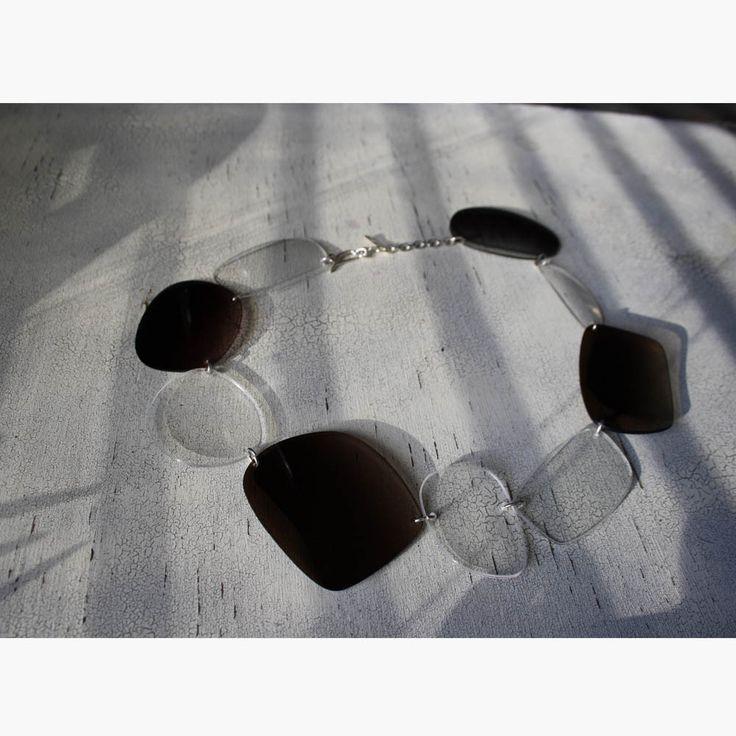 -5 -kaulakoru. Silmä- ja aurinkolasien pleksit.