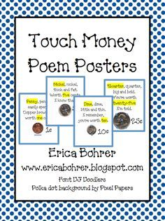 Erica Bohrer's First Grade: Touch Math - Touch Money--fabulous FREE printable to help kids finally learn the value of each coin