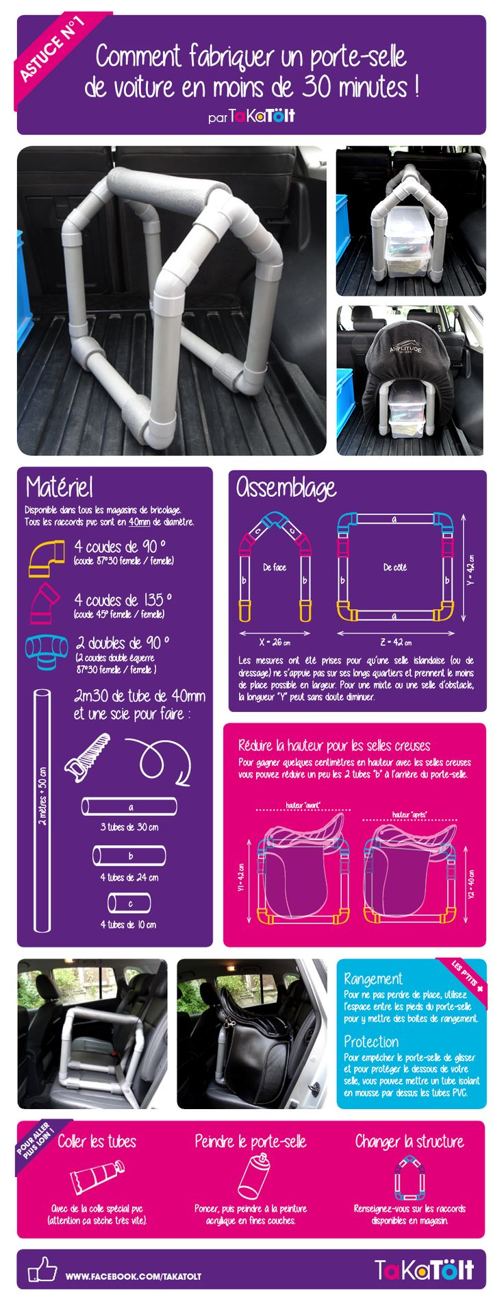 TaKaTölt, vêtements et goodies - Astuce n°1 : Comment fabriquer un porte-selle de voitureen moins de 30 min.