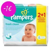 Μωρομάντηλα Pampers Fresh Clean 2+1 ΔΩΡΟ