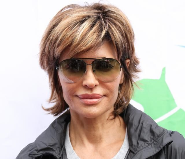 Lisa Rinna's signature shag, I love this version. Note the balayaged highlights.