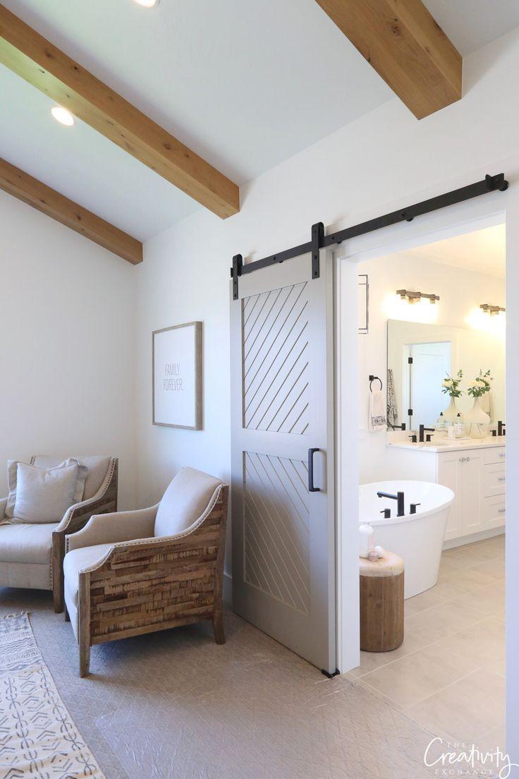 Master Bedroom Barn Sliding Door Bedroom Design Master