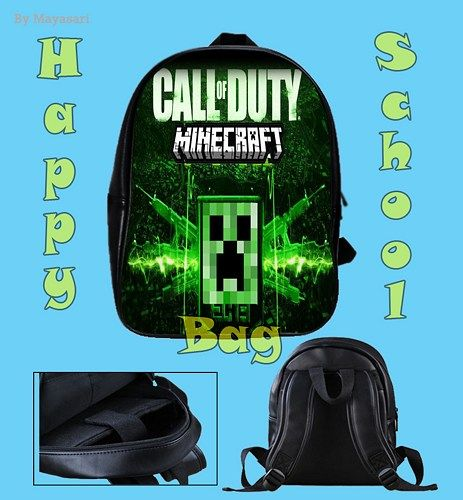 Custom School Bag - New MINECRAFT Call of duty Bag  This high-quality  school bag is the perfect accessory for school children. Made from high-grade PU leather. It is the perfect way for children to c