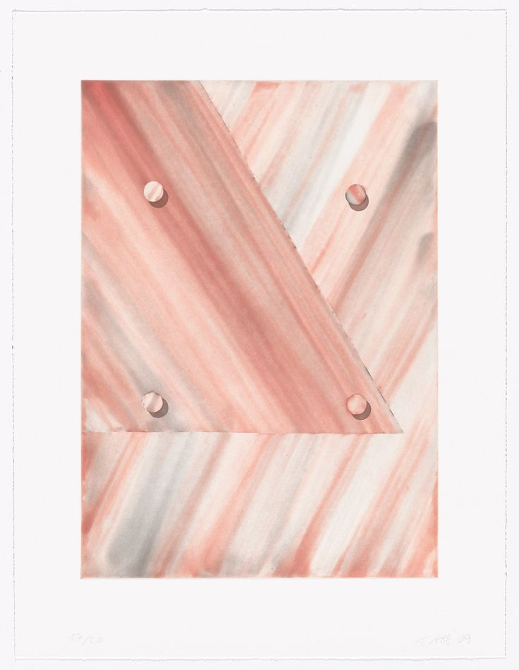 "Tomma Abts Untitled (triangle) 2009 Recent acquisition Medium Aquatint Dimensions plate: 18 x 12 7/8"" (45.7 x 32.7 cm); sheet: 23 3/8 x 17 3/4"" (59.3 x 45.1 cm) Publisher Crown Point Press, San Francisco Printer Crown Point Press, San Francisco Edition 20 Credit Acquired through the generosity of The Contemporary Drawing and Print Associates of The Museum of Modern Art in memory of Riva Castleman Tomma Abts. Untitled (triangle). 2009"