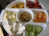 Monkey Platters—Finger-food for Kids Website lists lots of ideas for (mostly) healthy snacks to put on the monkey platter - perfect for primary school parties...