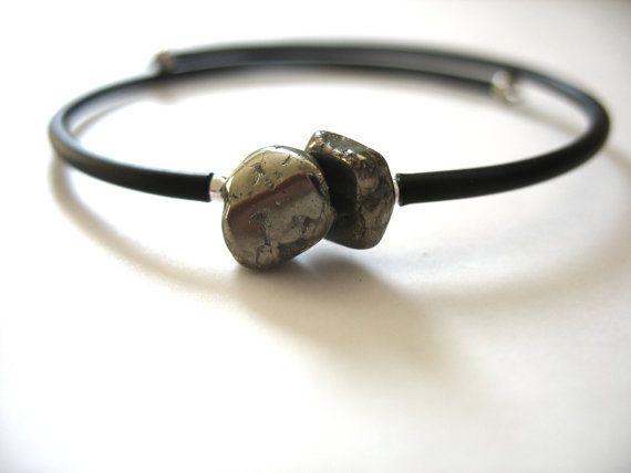 Pyrite Bracelet Pyrite Stone Bracelet  Pyrite by LuminousCreation, $10.00