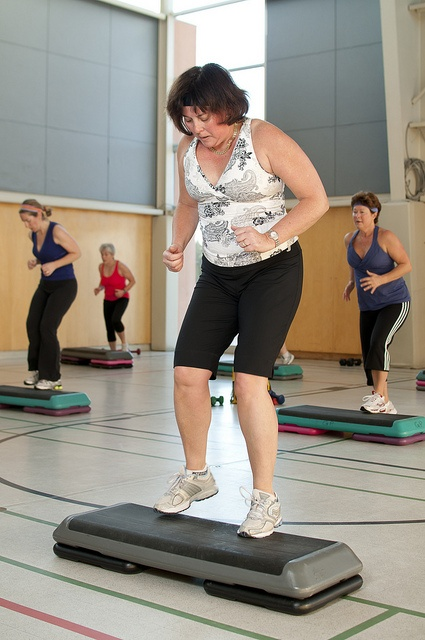 Our aerobic step box is used to help you increase your cardio workout at the YMCA of Parry Sound