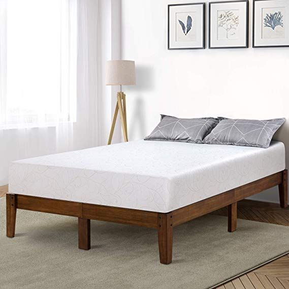 Amazon Com Primasleep 14 Inch Solid Wood Platform Bed Frame Anti