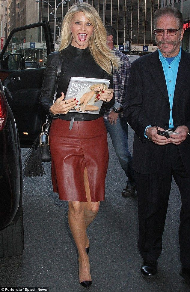 Ageless beauty: Christie Brinkley looked stunning as she headed to The Howard Stern Show ...