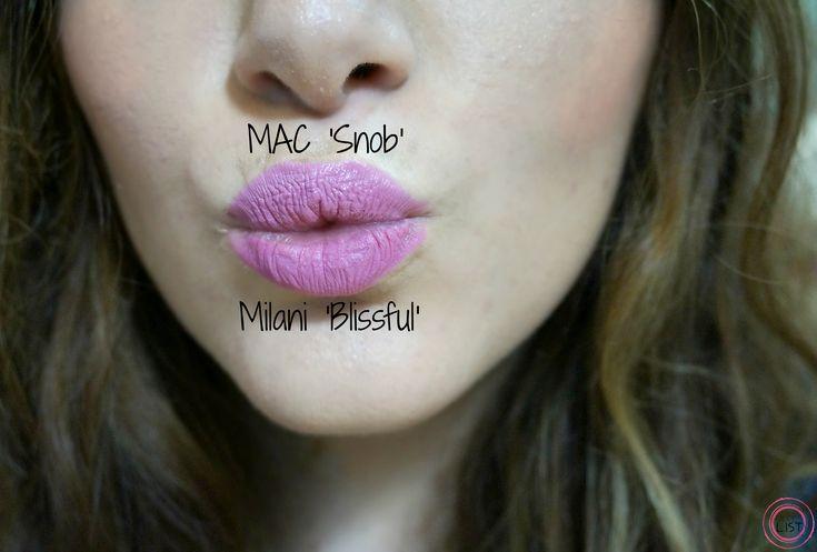 MAC Snob Dupe Milani Blissful Lipstick - makeup dupes