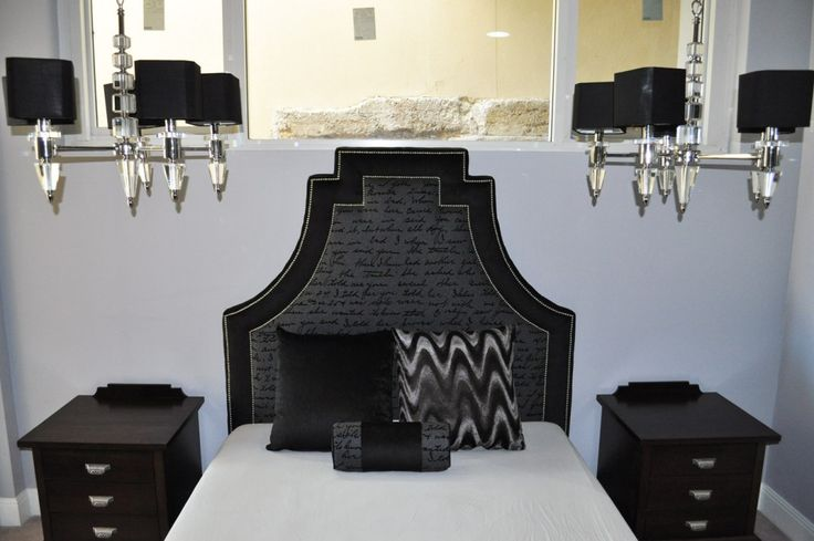 Contemporary Modern Shaped Bed Head and Base