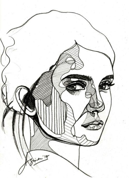 #art #arte #shivam #sehgal #artwork #creative #nina #dobrev #vampire #diaries #actress #celebrity #celeb #tattoo #ink #black #fashion #illustration