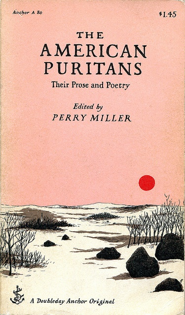 I had no idea this cover was by Edward Gorey - had to read this for Trads I, permanently scarred by some of the puritan sermons therein.