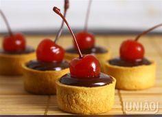 Mini torta de chocolate - receita no blog União.