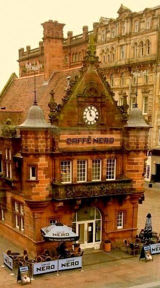 The Caffè Nero ~ Glasgow, Scotland. been in here it looks gorgeous at night as well!