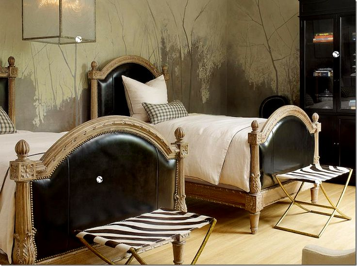 these french beds with black leather u2013 to die for