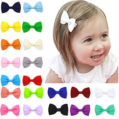 20+Colors/Set+Hair+Bow+Clips+Infant+Hair+Bows+Children+Hair+Accessories++–+USD+$+5.51