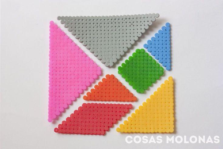 DIY Tangram con pyssla o hama beads