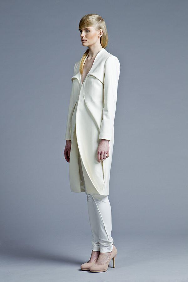 Sculptural, minimal fashion by Designer: Boska by Eliza Borkowska Look Book A/W 2013/14 Model: Magda Roman  Photos: Ewelina Petryka & Krystian Szczęsny  Make up: Klaudia Majewska