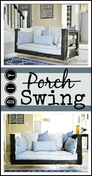 Porch Swing Sawdust2stitches.com