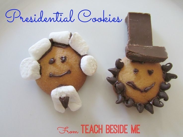 Lincoln and Washington President Cookies - Teach Beside Me #giveaway #PoppinsBookNook #presidentunit