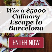 Hungry for a $5,000 culinary escape to Barcelona?