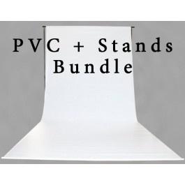 [50129] Studio Bundle - PVC Backdrop + Stands Kit