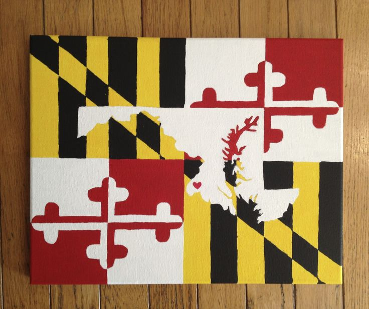 Maryland State Canvas #DIY #Crafts #Maryland