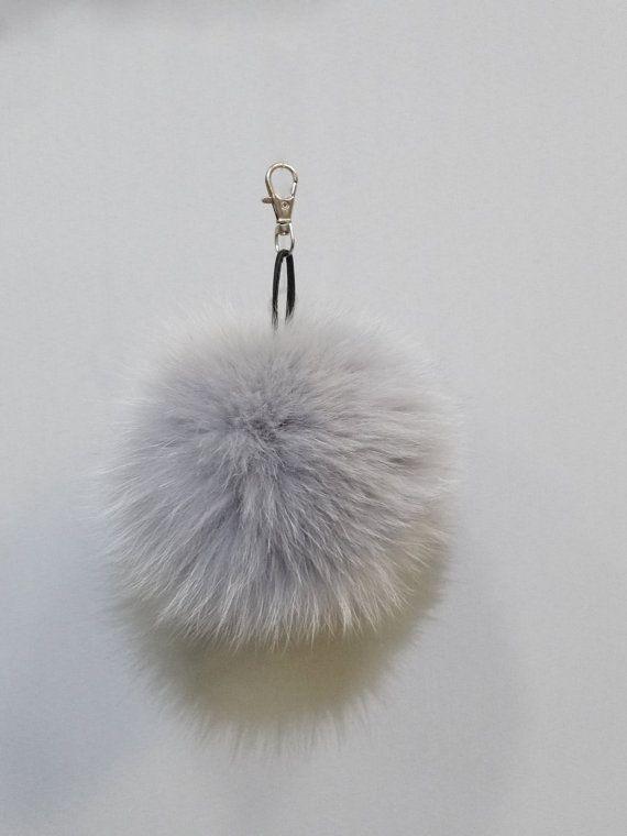 Fur bag charmcolorful fur ballsgift for herlarge by FilimegasFurs