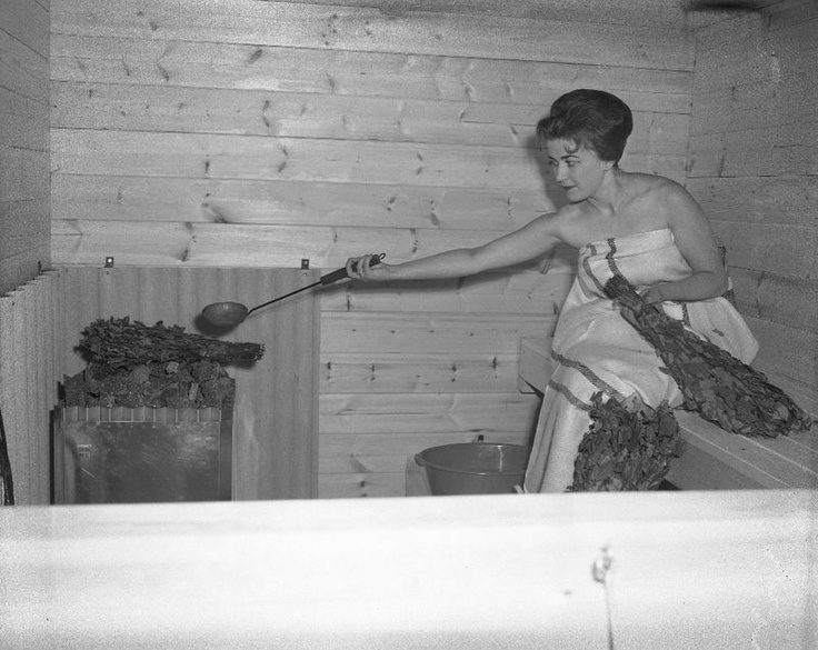 Miss Finland 1962. It's been much too long since my last sauna.