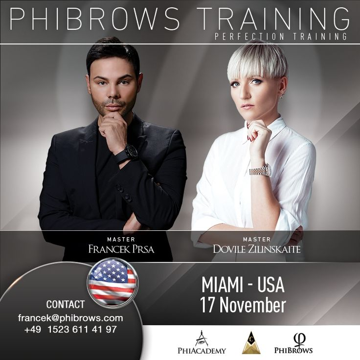 TWO PHIBROWS MASTERS !!! Francek Prsa & Dovile Zilinskaite M I A M I - NOVEMBER