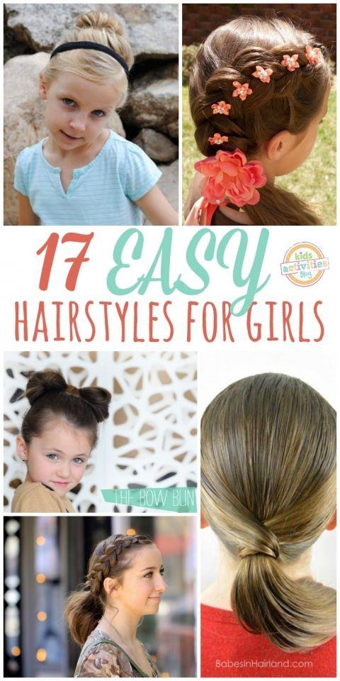 17 easy Girl hair styles