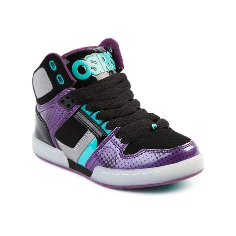 OSIRIS SHOES NYC 83 GIRLS HIGH-TOP SNEAKER NEU SILVER-BLACK US 7 EUR 375 OSIRIS