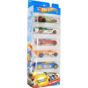 Pacote Carrinhos Hot Wheels 5 Unidades - Mega Loop Mayhem - Mattel, deixe seus concorrentes na poeira! Fãs de todas as idades irão apreciar este pacote de veículos de Corridas para Pistas de Loop, em escala 1:64, é só acelerar e pronto para a corrida.