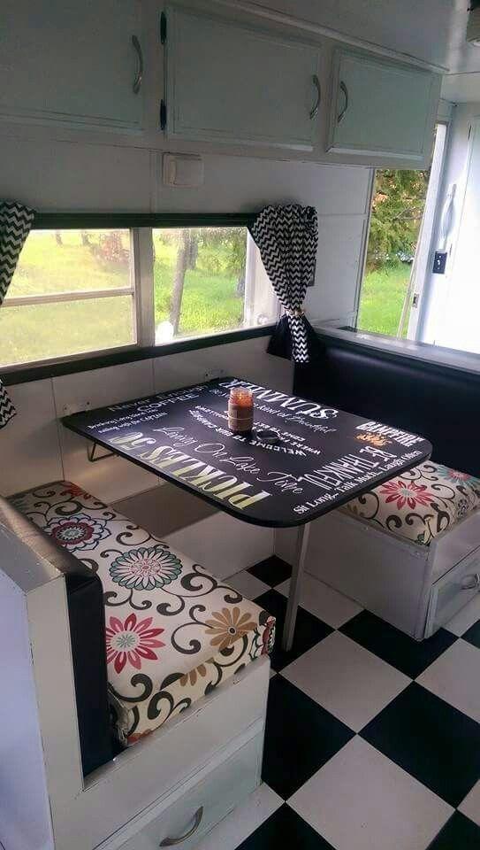 trailer makeover popup camper redo camper table travel trailer redo