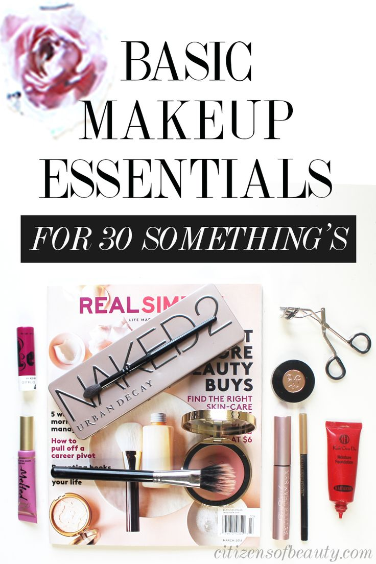 basic makeup tools. basic makeup essentials in your thirties tools e