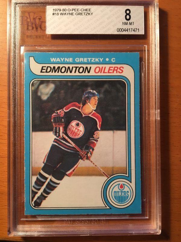 197980 O Pee Chee Opc Wayne Gretzky Rookie Card Bvg 80 Nm Mt