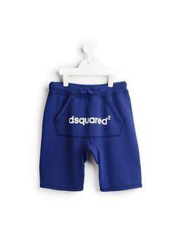 drop crotch logo shorts